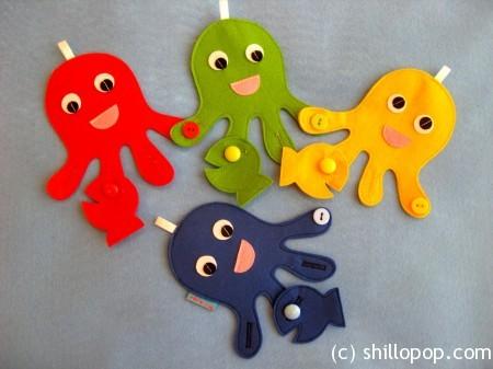 четыре осьминожки