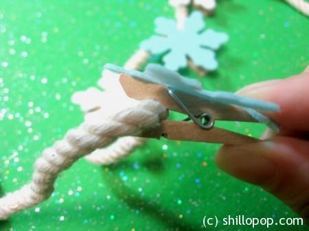 фетр прищепка елочная игрушка