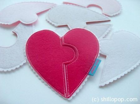 сердце фетр валентинка