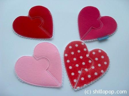 валентинка фетр сердце