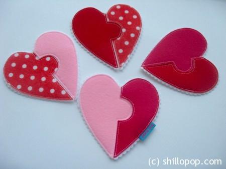 сердце фетр валентика пазл