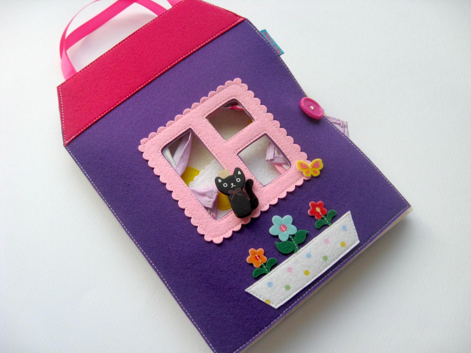 книжка дом для куклы фетр