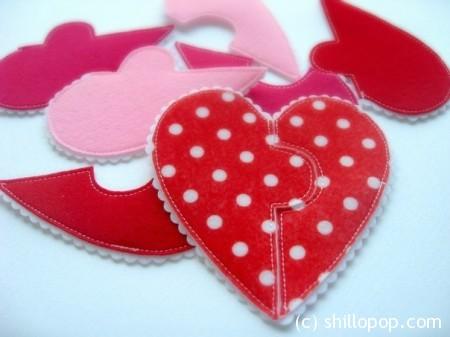 фетр сердечко валентинка