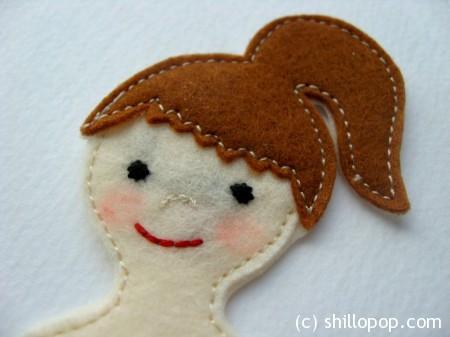 куколка девочка из фетра