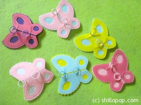фетр пальчиковая игрушка бабочка мк