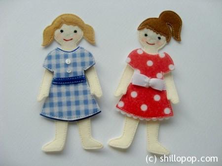 куколки из фетра одежда