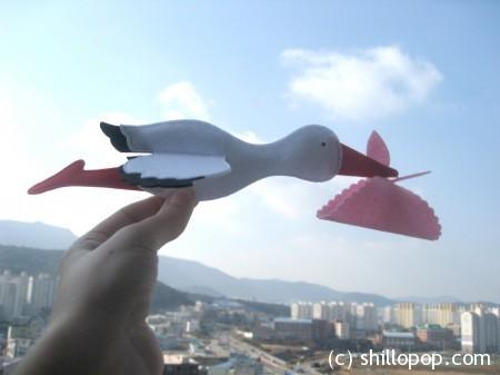 аист мобиль из фетра игрушка