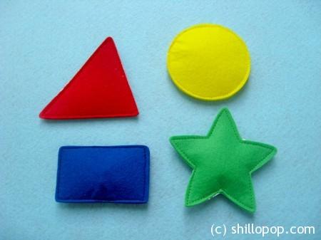 геометрические фигуры из фетра 4