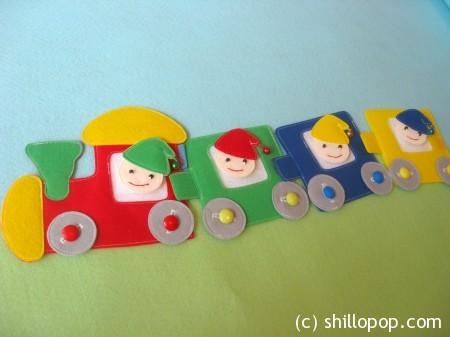 поезд из фетра выкройки развивающих игрушек