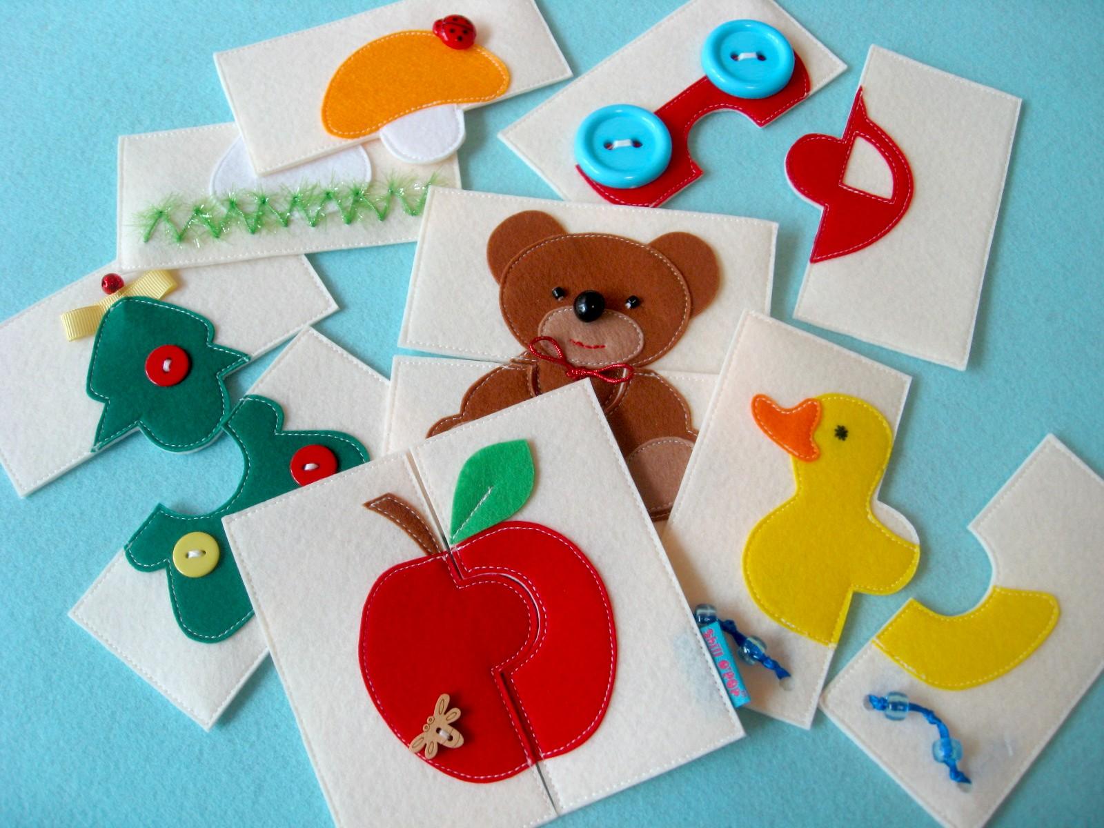 из фетра пазлы развивающие игрушки