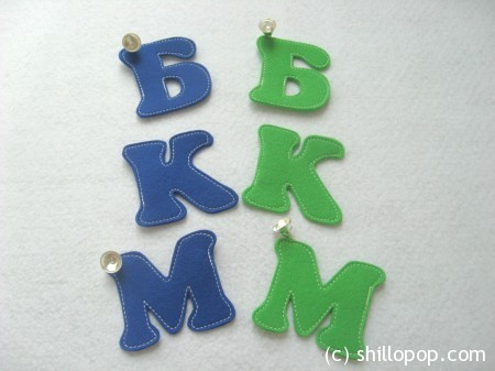 буквы из фетра азбука