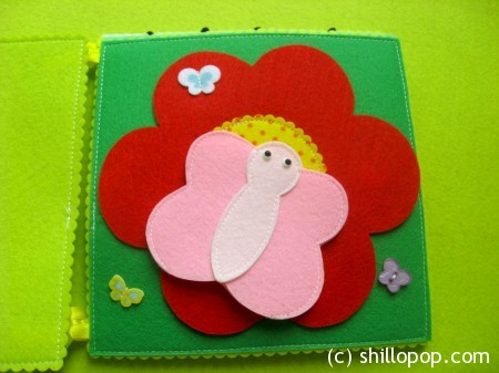 Over In The Meadow Finger Puppet Felt Quiet Book  PDF Pattern