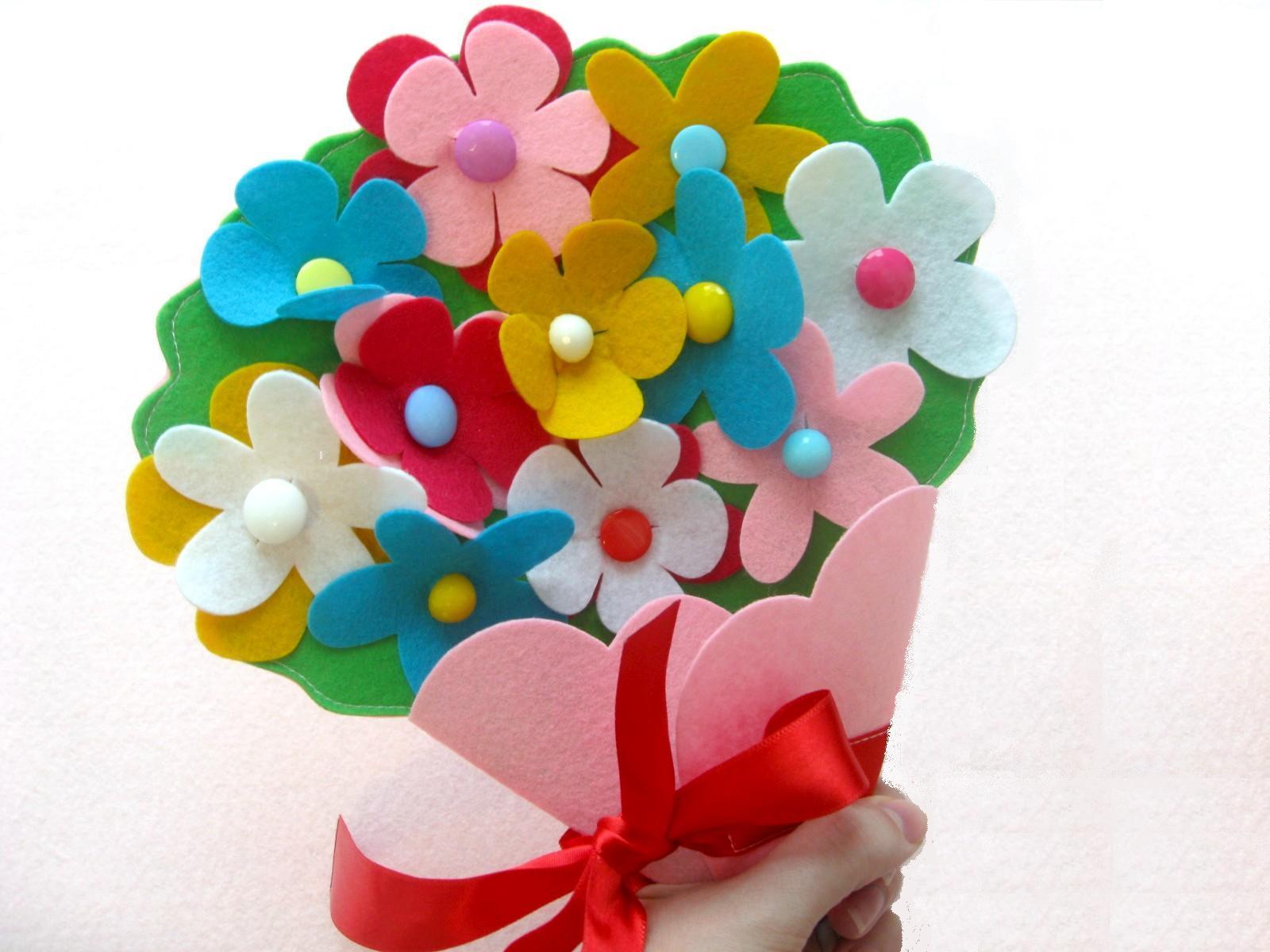 игрушки из фетра выкройки цветы