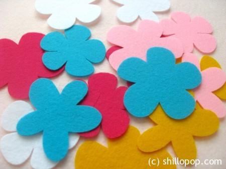 цветы из фетра 3