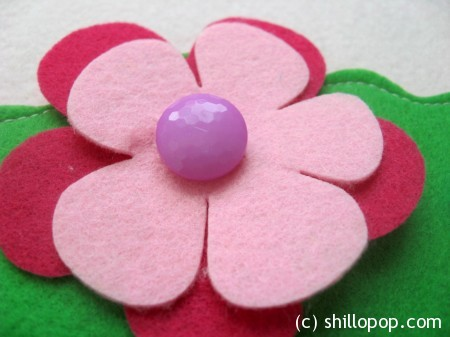Felt Flower Bouquet Buttoning Activity for kids PFD Pattern