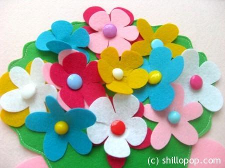 цветы из фетра 7