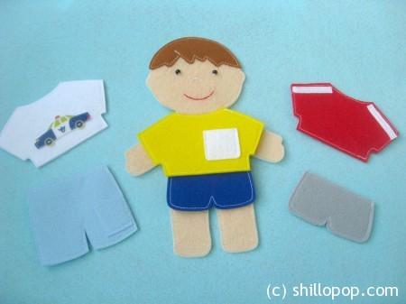 куклы из фетра одежда