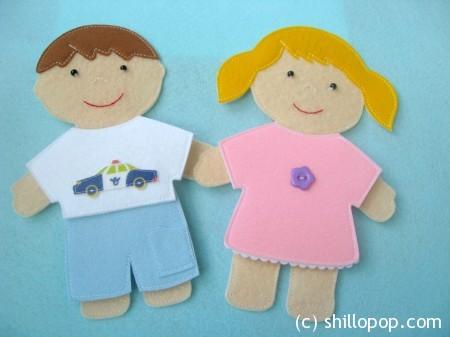 куклы из фетра одежда на липучках выкройки