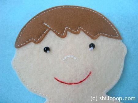 игрушки из фетра кукла с одеждой