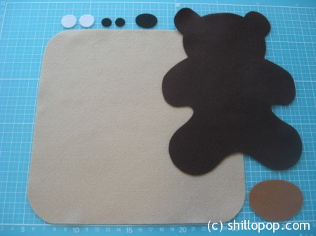 Felt Baby Bear softie toy in lovey  swaddle blanket PDF pattern baby comforter toy
