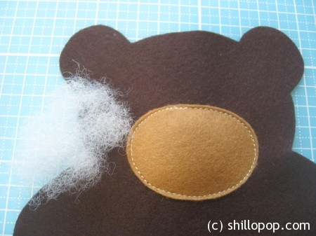 Felt Baby Bear softie toy in lovey  swaddle blanket PDF pattern