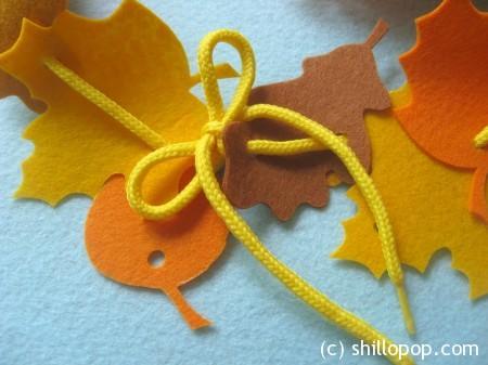 венок из листьев осень шнуровка