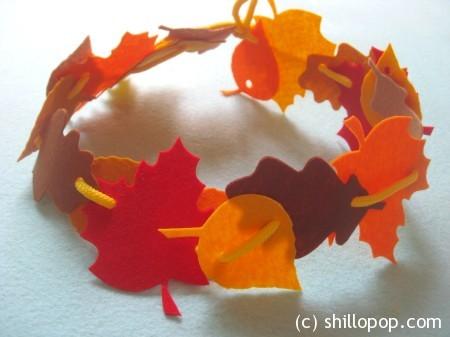 осенние листья фетр11