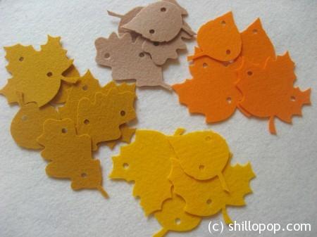 шнуровка листья фетр осенние игры