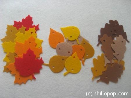 осенние листья фетр3