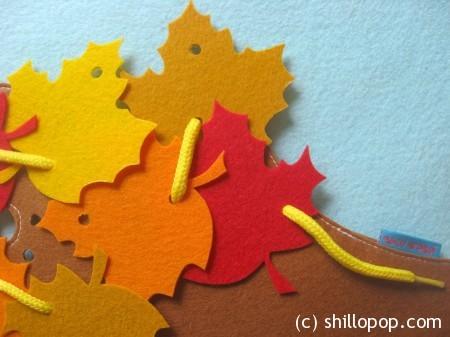 осенние листья фетр7
