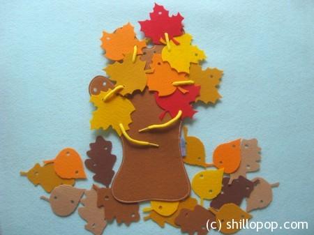 осенние листья фетр8