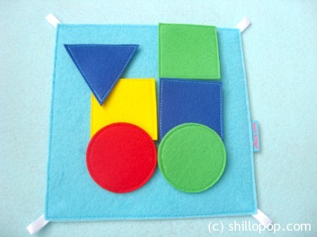 Shapes And Colours Felt Quiet Book PDF Pattern construction felt board set