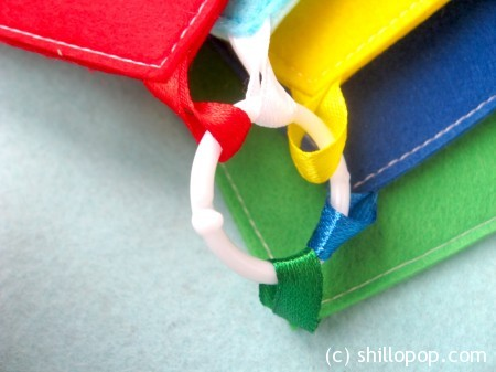 Shapes And Colours Felt Quiet Book PDF Pattern Secure the book pages together using binder rings or ribbon.