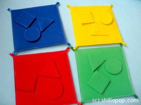 Shapes And Colours Felt Quiet Book PDF Pattern matching game, sorting game