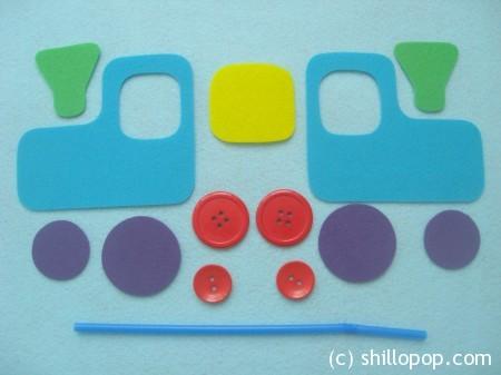 """""""Сhoo Сhoo Train"""" felt blowing toy for kids pattern"""