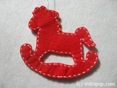 лошадка елочная игрушка 4