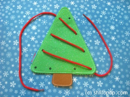 Lacing felt Christmas tree toy PDF Sewing Pattern