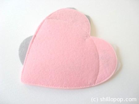 валентинка из фетра котики 2