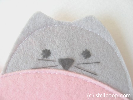 валентинка из фетра котики 3