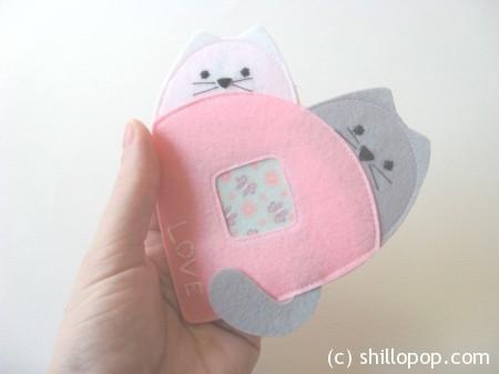 валентинка из фетра котики 5
