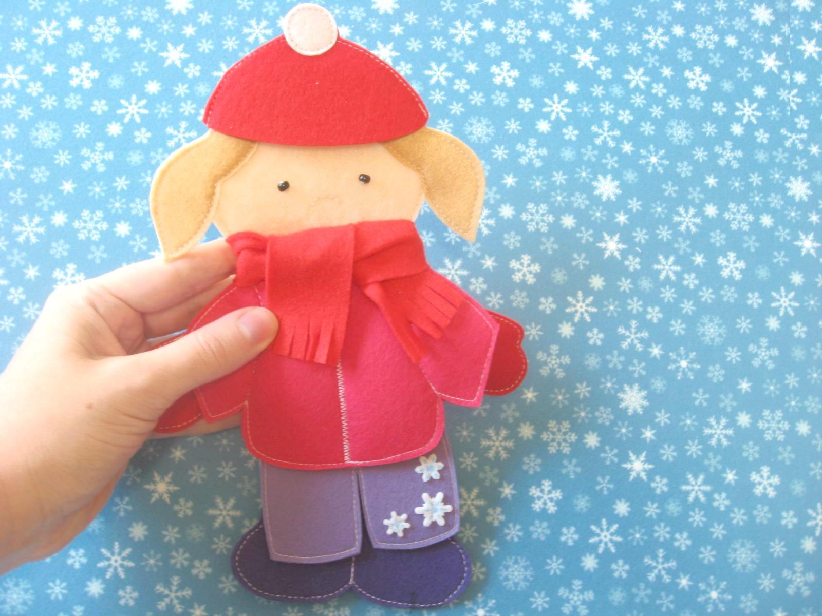одежда для кукол из фетра выкройки игрушек для детей развивающие