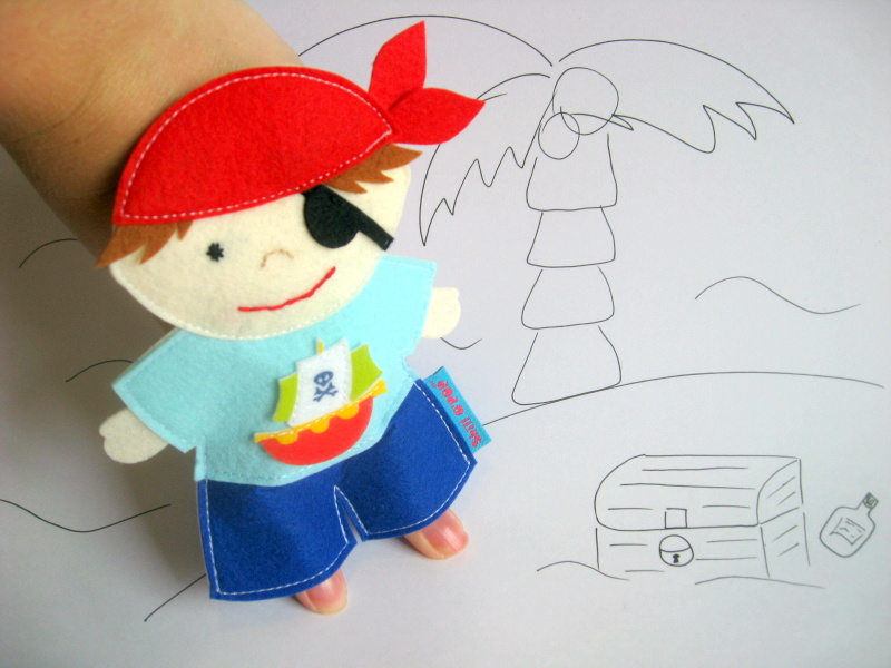 Пират пальчиковая игрушка из фетра выкройка