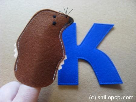 Крот пальчиковая игрушка Азбука из фетра алфавит выкройки
