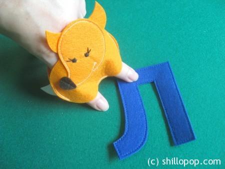 Лиса пальчиковая игрушка Азбука из фетра алфавит выкройки