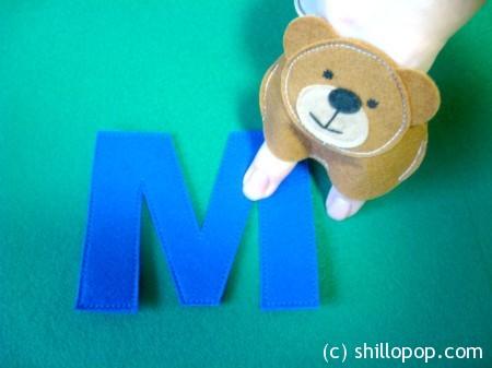 Медведь мишка пальчиковая игрушка Азбука из фетра алфавит выкройки