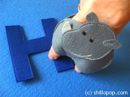 носорог пальчиковая игрушка Азбука из фетра алфавит выкройки