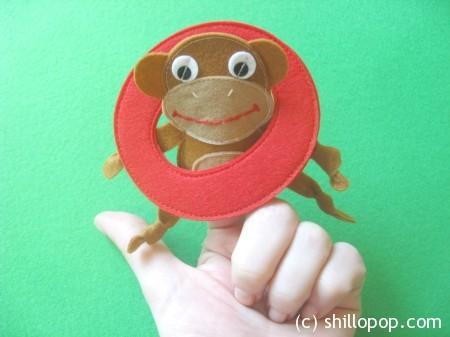 обезьянка пальчиковая игрушка Азбука из фетра алфавит выкройки фетр