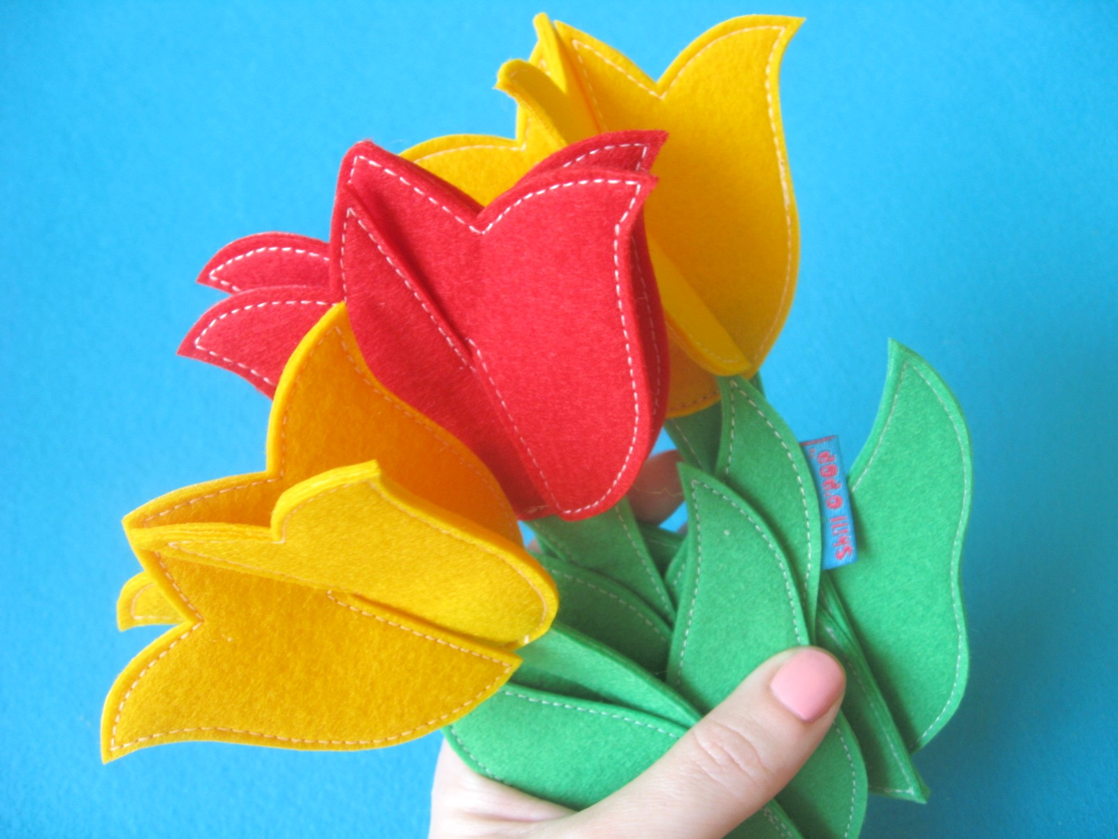 Цветы из фетра мастер-класс выкройки тюльпан