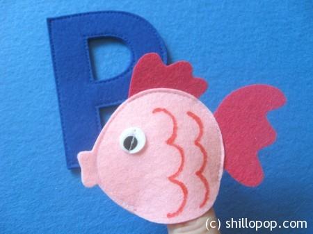 рыбка пальчиковая игрушка Азбука из фетра выкройки алфавит фетр