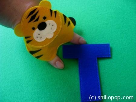 тигр пальчиковая игрушка Азбука из фетра выкройки алфавит фетр